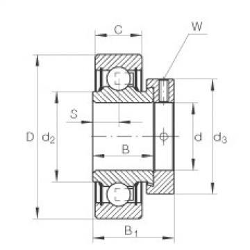roulements RAE25-NPP-FA106 INA