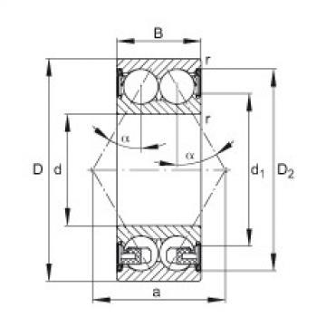 roulements 3303-BD-2Z-TVH FAG