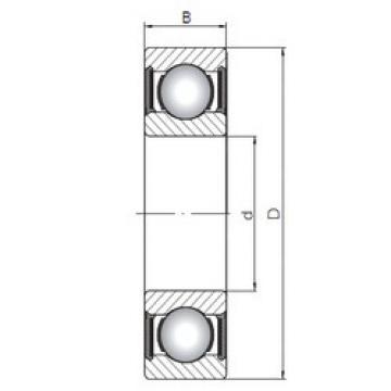 roulements 61911-2RS CX