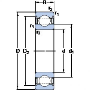 roulements 6206-2Z/VA208 SKF