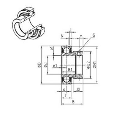 roulements CES210-31 SNR