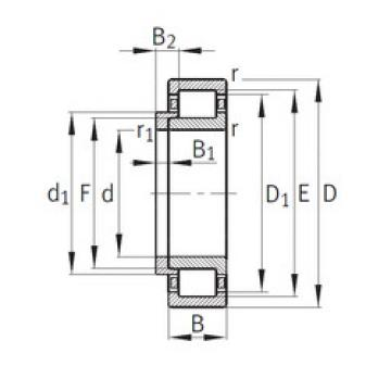 roulements NJ336-E-M1+HJ336E FAG