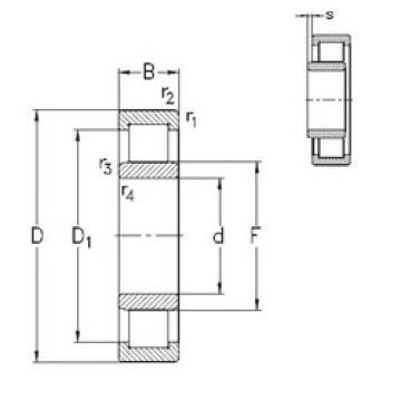 roulements NU1016-E-MPA NKE