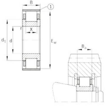 roulements RN308-E-MPBX FAG