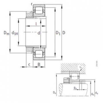 roulements 20208-K-TVP-C3+H208 FAG
