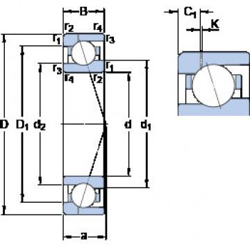 roulements 71908 ACE/HCP4AH1 SKF