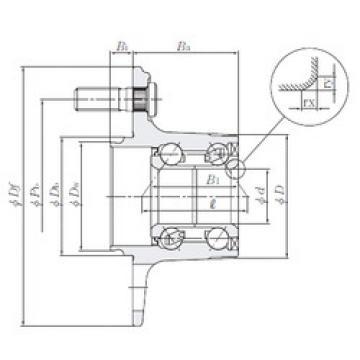 roulements HUB186-6 NTN
